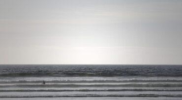 Surfen in der Normandie