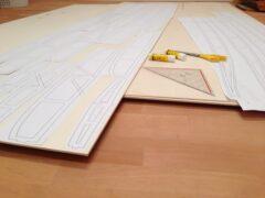 Vorbereitung der Rahmenkonstruktion