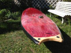 Anschleifen des Boards und Abkleben der Kanten