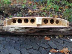 Querschnitt druch das Hollow-Wood-SUP