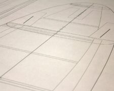 Kiteboard Directional Konstruktionsplan-Detail