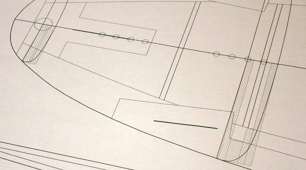 Kiteboard-Plan mit CAD