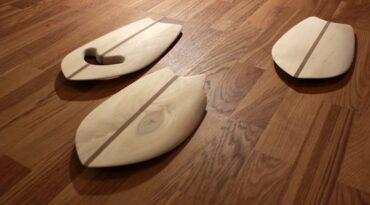 Neue Handplanes aus Pappelholz mit Mahagoni-Stringer