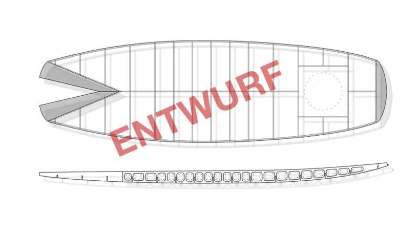 Wave-SUP Konstruktion - Entwurf