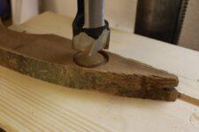 Holzrohlinge mit Zapfenbohrer ausbohren