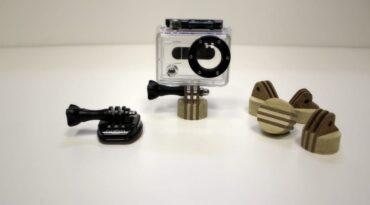 Holz-Plugs mit Kamera-Halterung