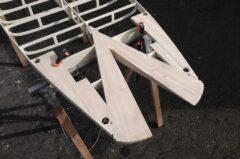 SUP-Fishtail mit Paulownia-Einsätzen für Finnen