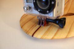Kamera-Befestigung aus Holz