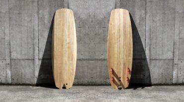 Hybrid-Surfboard fertig lackiert