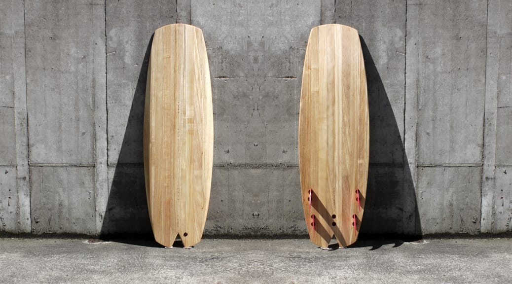 Hybrid-Surfboard in Hollow-Wood-Konstruktion