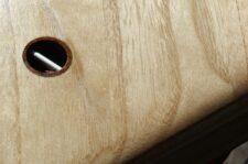 Leash-Plug aus Mahagoni-Holz