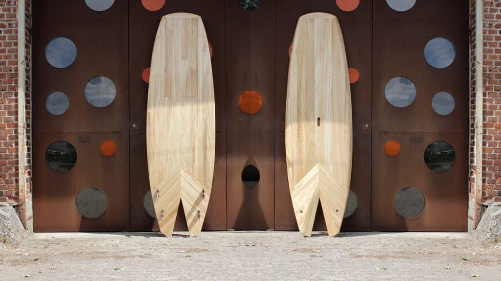 Allround-Wave SUP mit Fishtail aus Holz