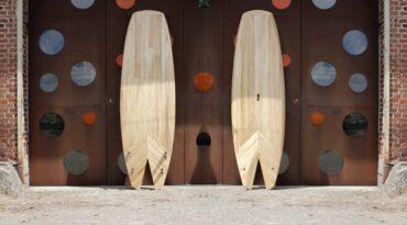 Allround-Wave SUP aus Holz mit Fishtail ist fertig