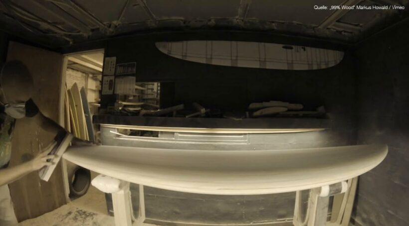 Shaping Paulownia-Blank - Wooden Surfboard