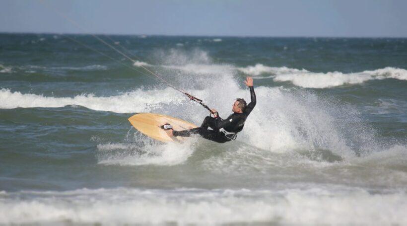 Kitesurfing in Vigsö / Dänemark
