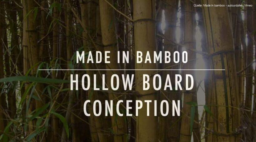 Hollow-Wood-Surfboard aus Bambus