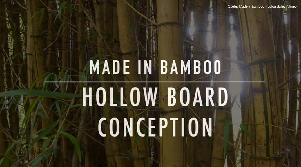 Hollow-Wood-Surfboard aus Bambus