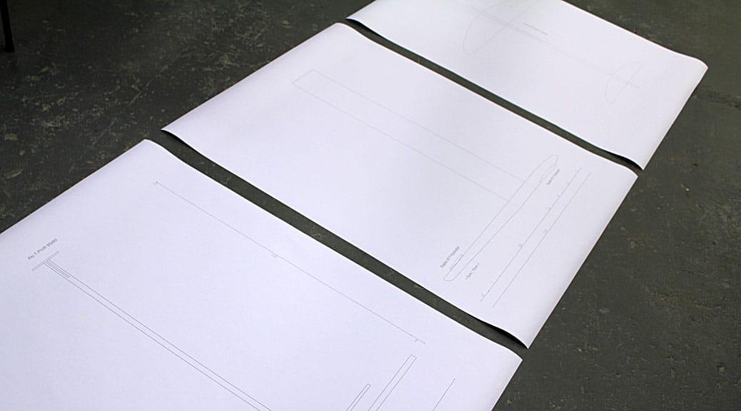 CAD-Plots des Hydrofoil-Leitwerks