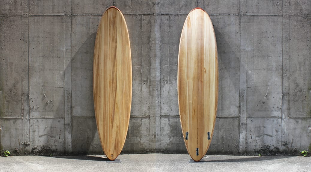 Mini-Malibu 7,2 - Hollow-Wood-Surfboard
