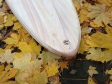 Tail-Block aus Apfelbaum-Holz mit Leash-Plug aus Mahagoni