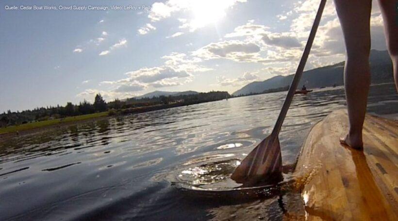 SUP-Paddel aus Holz, Cedar Boat Works Kampagne