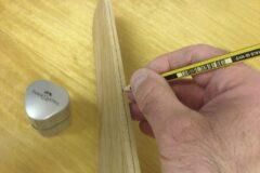 Mitte mit Bleistift nachzeichnen