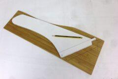 Übertragen der Finnenoutline auf zweites Holzstück