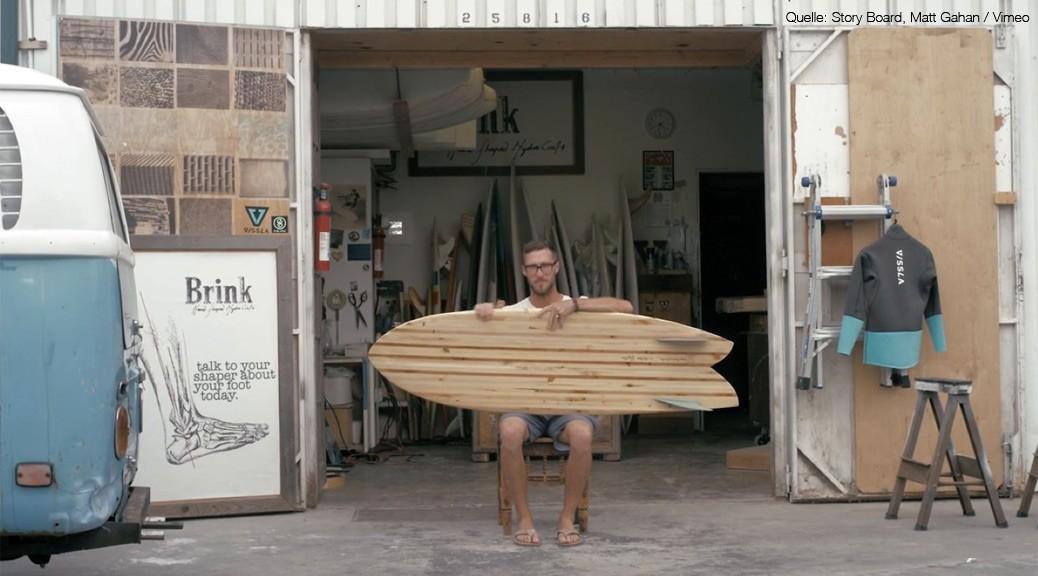 Asymetrisches Surfbrett aus Holz von Donald Brink