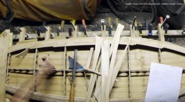 Video vom schrittweisen Bau eines Hollow Wood Surfboards