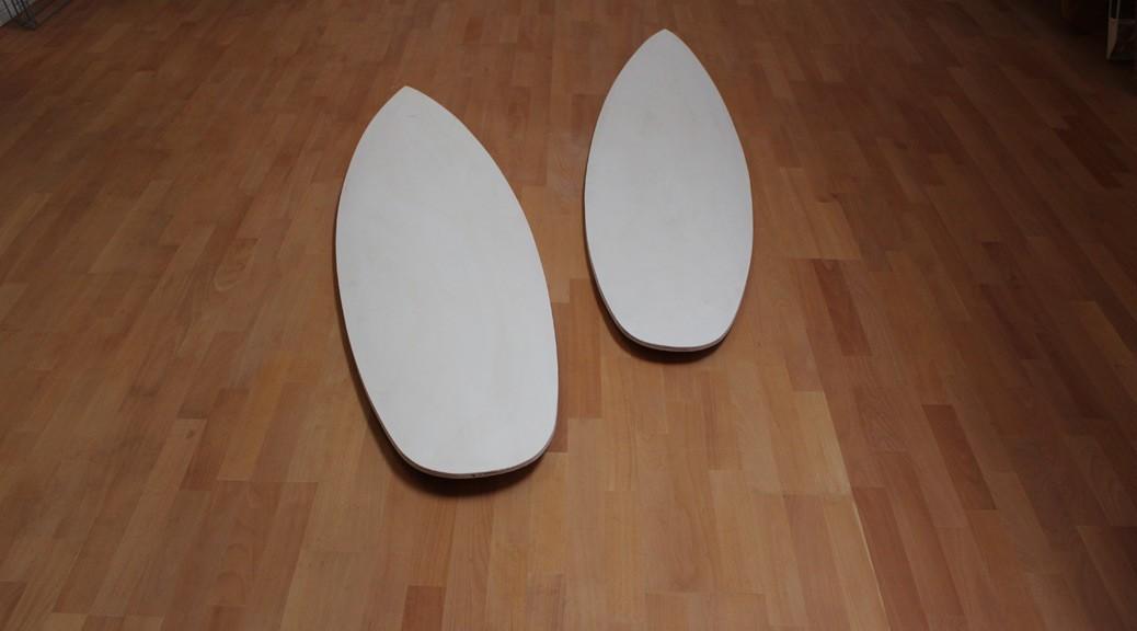 Sperrholz-Blanks für neue Kitesurfboards