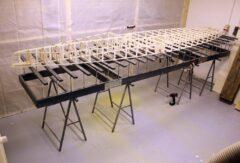 Kompletter Rahmen der Hollow-Wood-Konstruktion