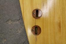 Feine Risse und mürbes Holz bei FSC-Plugs