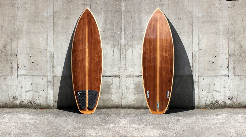 Wooden Waveboard 5,6'