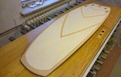 Abkleben des Surfboards