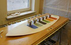 Test von verschiedenen Auro-Holzlasuren auf Pappelholz