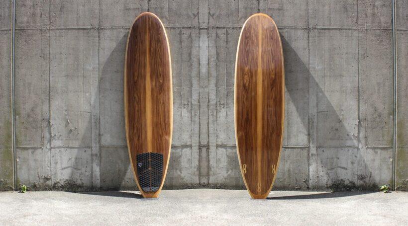 Mini-Malibu 7,6 Hollow-Wood-Surfboard