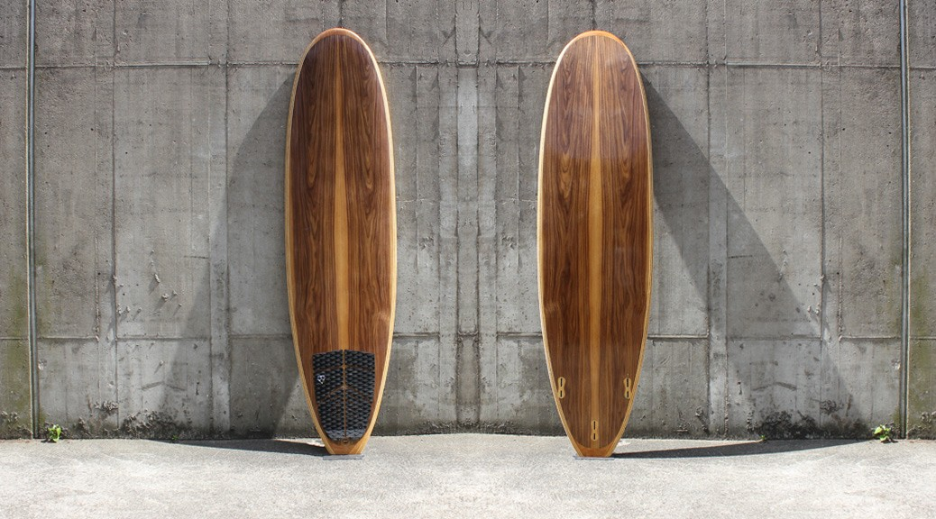 Mini-Malibu 7,6 Hollow-Wood-Surfboard