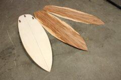 Surfboard-Blank aus Pappelsperrholz