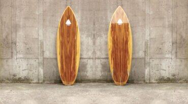 Neue Fotos vom 5,8'er Surfboard aus Sperrholz
