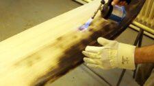 Handschuh um Glutnester auszuklopfen