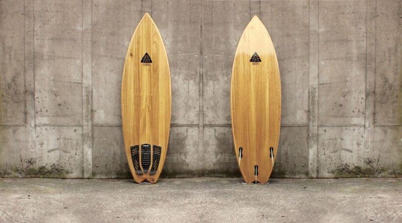 Kite-Surfboard aus Paulownia mit Fishtail