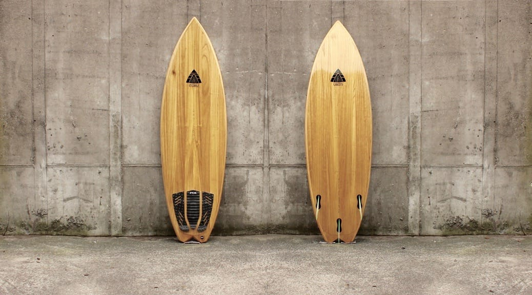 Kite-Surfboard aus Paulownia mit Fishtail