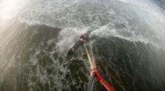Test des No-Nose-Kiteboards in Kiel