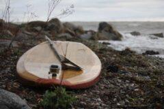 Wooden Allround-SUP mit GoPro