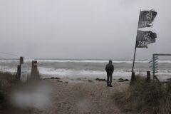 Strandweg in Grönwoldt - Chaos auf der Ostsee