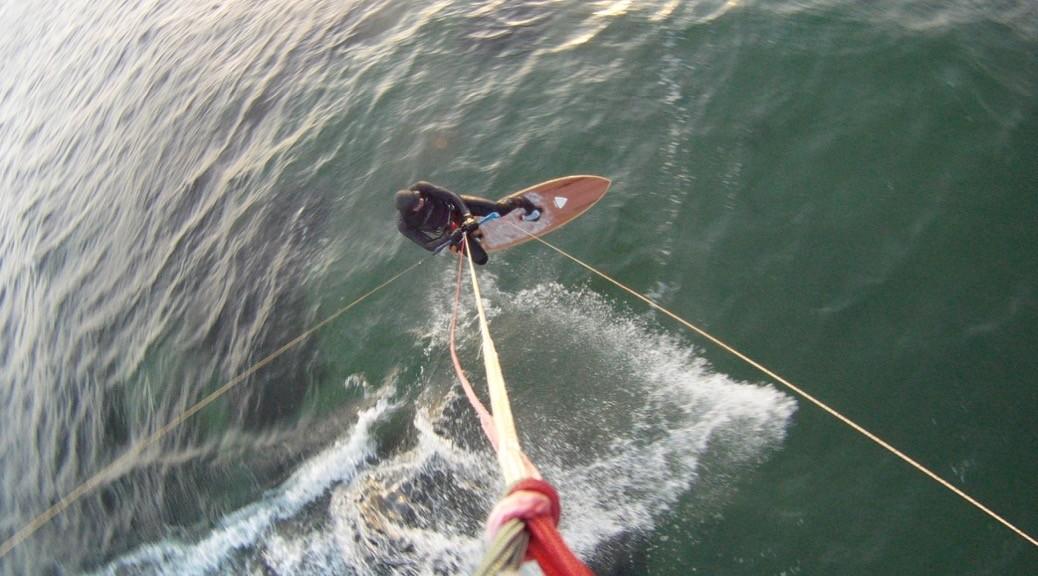 Kitesurfing an Weihnachten in Kiel