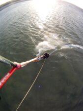 Kitesurfen am 1. Weihnachtsfeiertag in Kiel