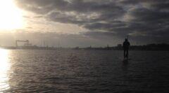 Blick auf HDW Werft und Kieler Innenstadt