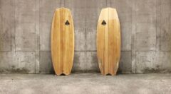Modern Fish-Surfboard aus Paulownia