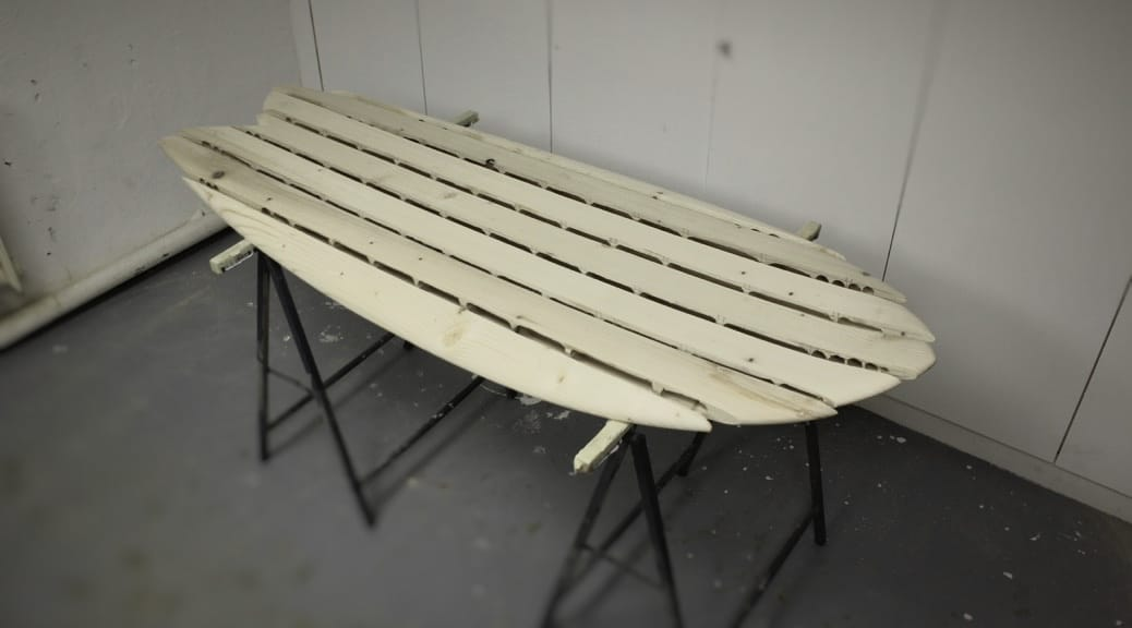 Chambered Wooden Surfboard